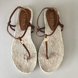 NWT Ralph Lauren Makayla Espadrilles Sandals Sz 7